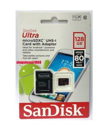 مموری میکرو 128 گیگ SANDISK MICRO SD 128G CALSS10