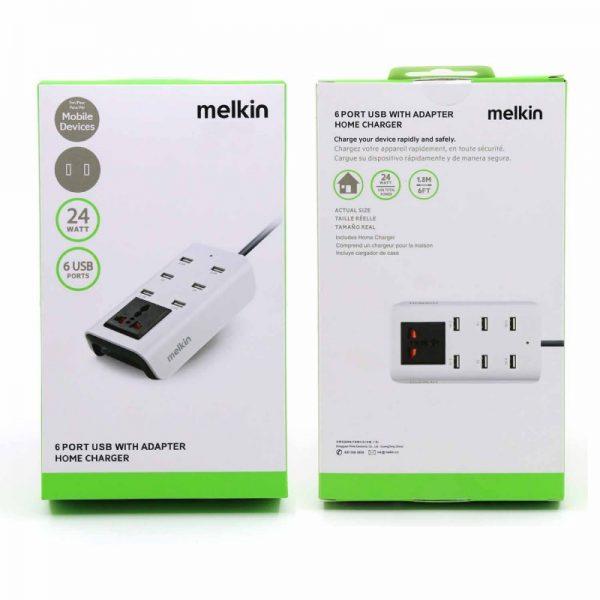 Melkin 6 Port Usb Adaptorشارژر6پرته ملکین