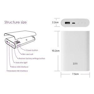 پاور بانک و مودم همراه 4G شیائومی Xiaomi ZMi MF855