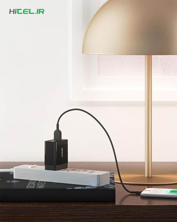 شارژر دیواری انکر فست شارژ PowerPort+ Plus 1 Quick Charge 3.0 A2013