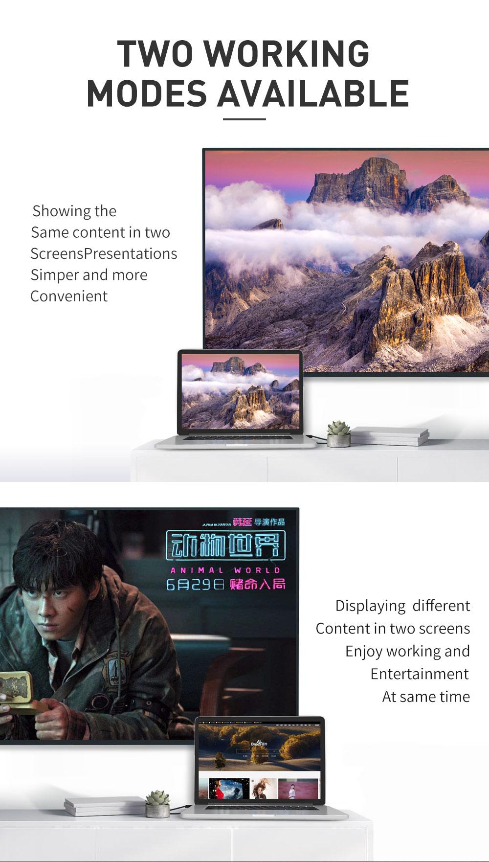 کابل تایپ سی به اچ دی ام آی Mcdodo 4K Type-C To HDMI