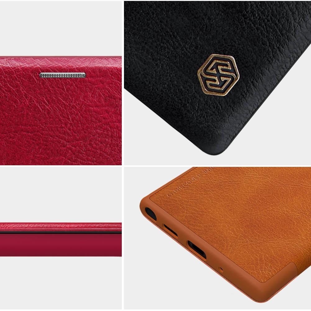 کیف چرمی نیلکین سامسونگ Nillkin Qin Leather Case Samsung Galaxy Note 10