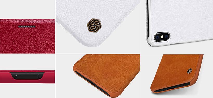 کیف چرمی نیلکین آیفون Nillkin Qin Leather Case iPhone XS