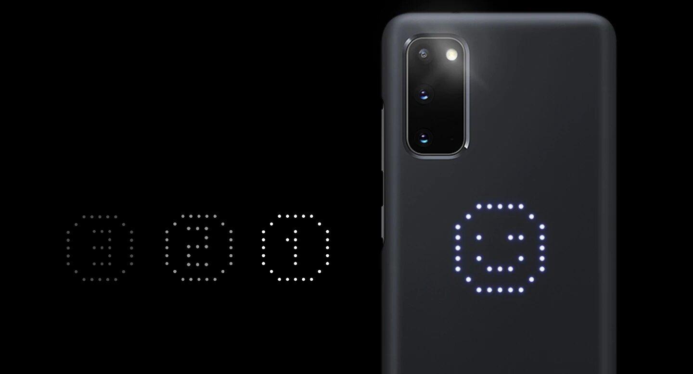 قاب محافظ اصلی سامسونگ Galaxy S20 LED Cover