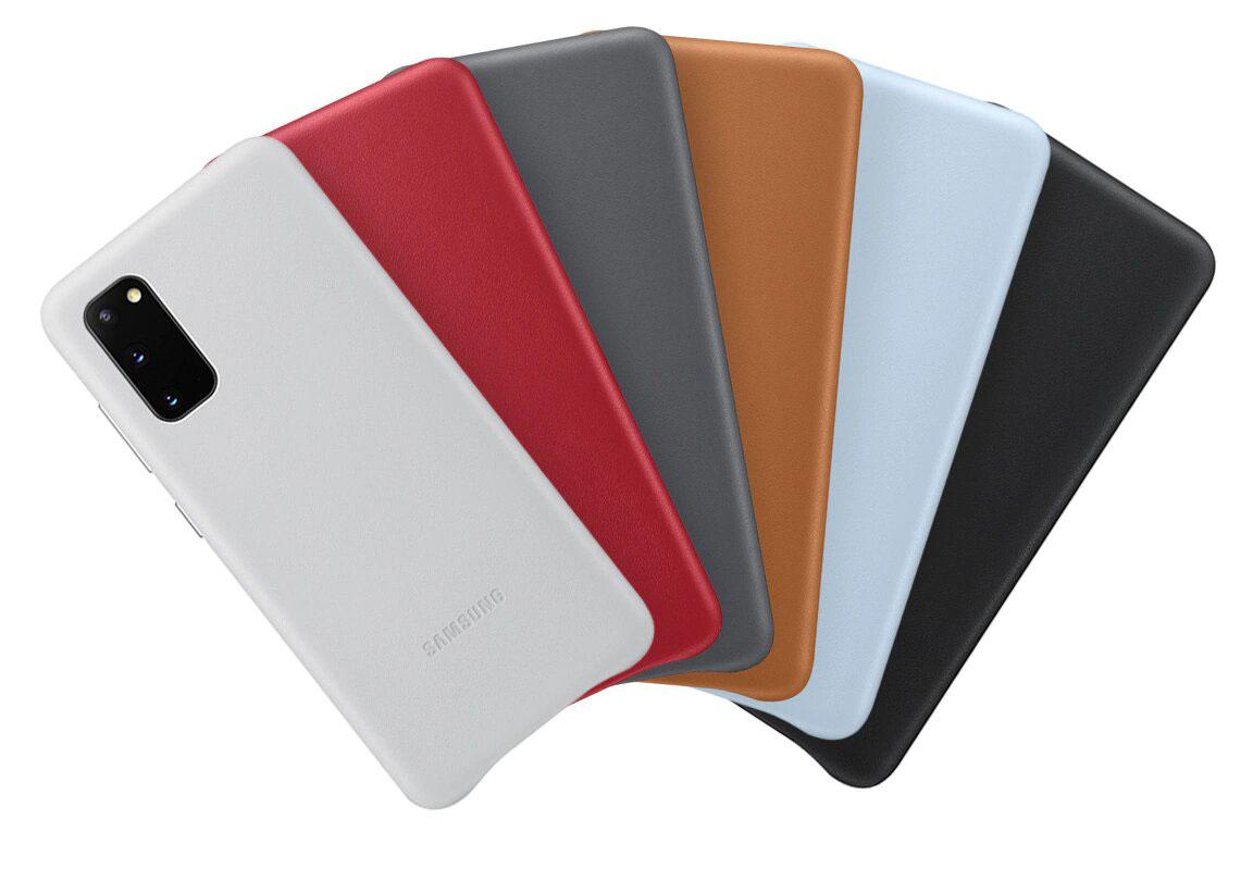 قاب محافظ چرمی اصلی سامسونگ Galaxy S20 Leather Cover