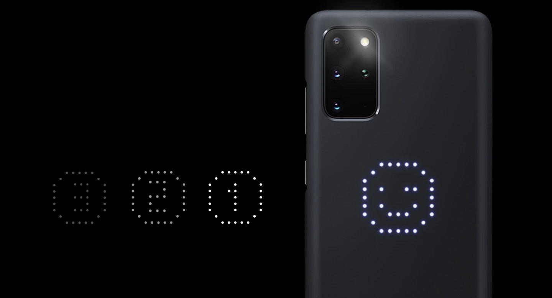 قاب محافظ اصلی سامسونگ Galaxy S20+ Plus LED Cover