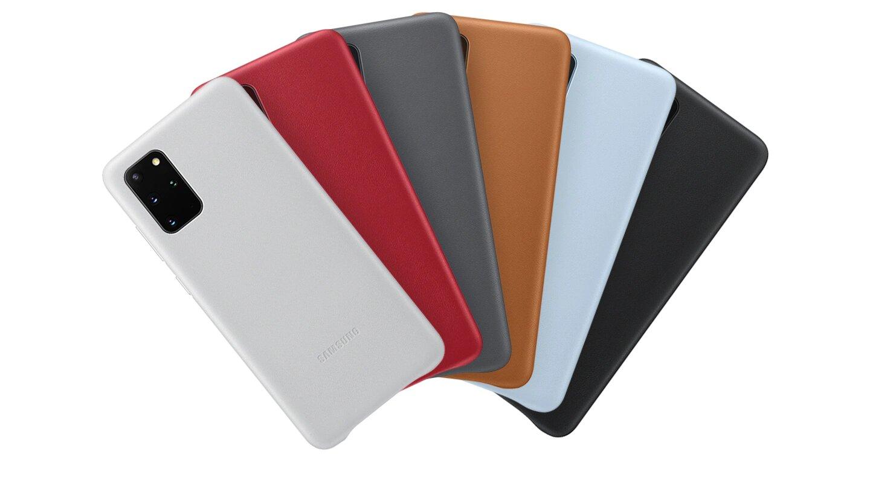 قاب محافظ چرمی اصلی سامسونگ Galaxy S20+ Plus Leather Cover