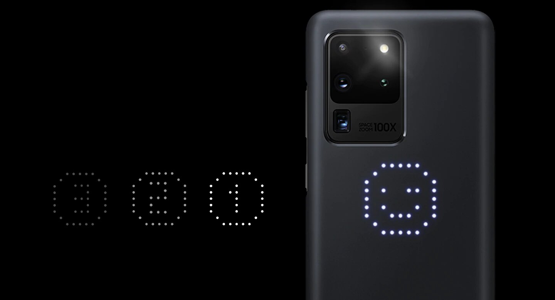 قاب محافظ اصلی سامسونگ Galaxy S20 Ultra LED Cover