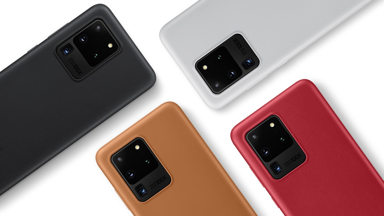 قاب محافظ چرمی اصلی سامسونگ Galaxy S20 Ultra Leather Cover