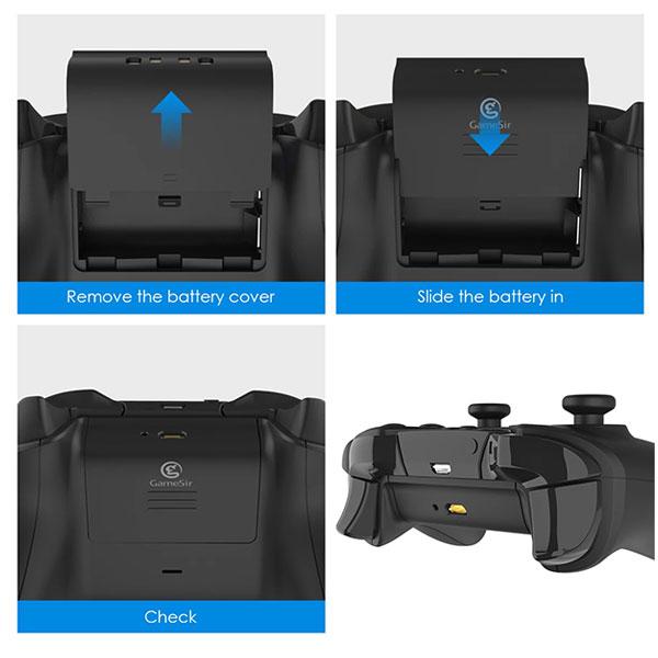 باتری پک 2 عددی دسته بازی ایکس باکس Xbox برند Gamesir