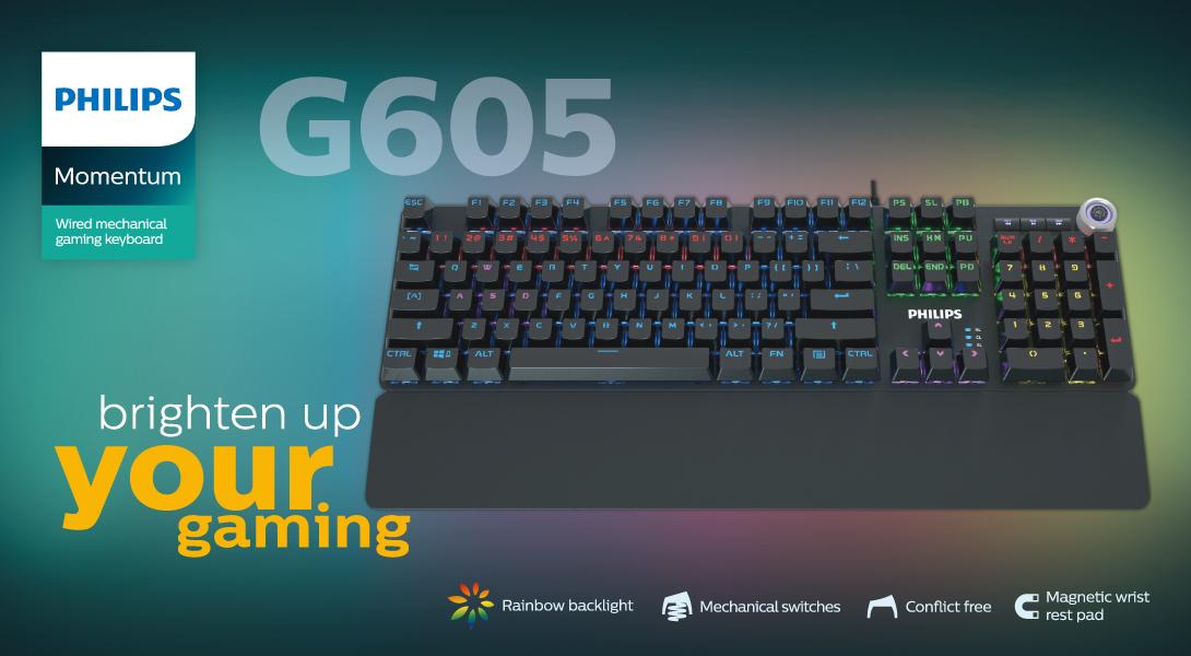 کیبورد گیمینگ مخصوص بازی فیلیپس Philips Gaming Keyboard G605 SPK8605