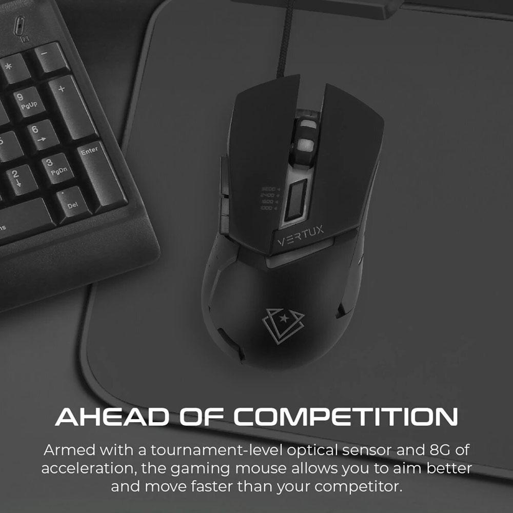موس گیمینگ برند Vertux مدل Dominator