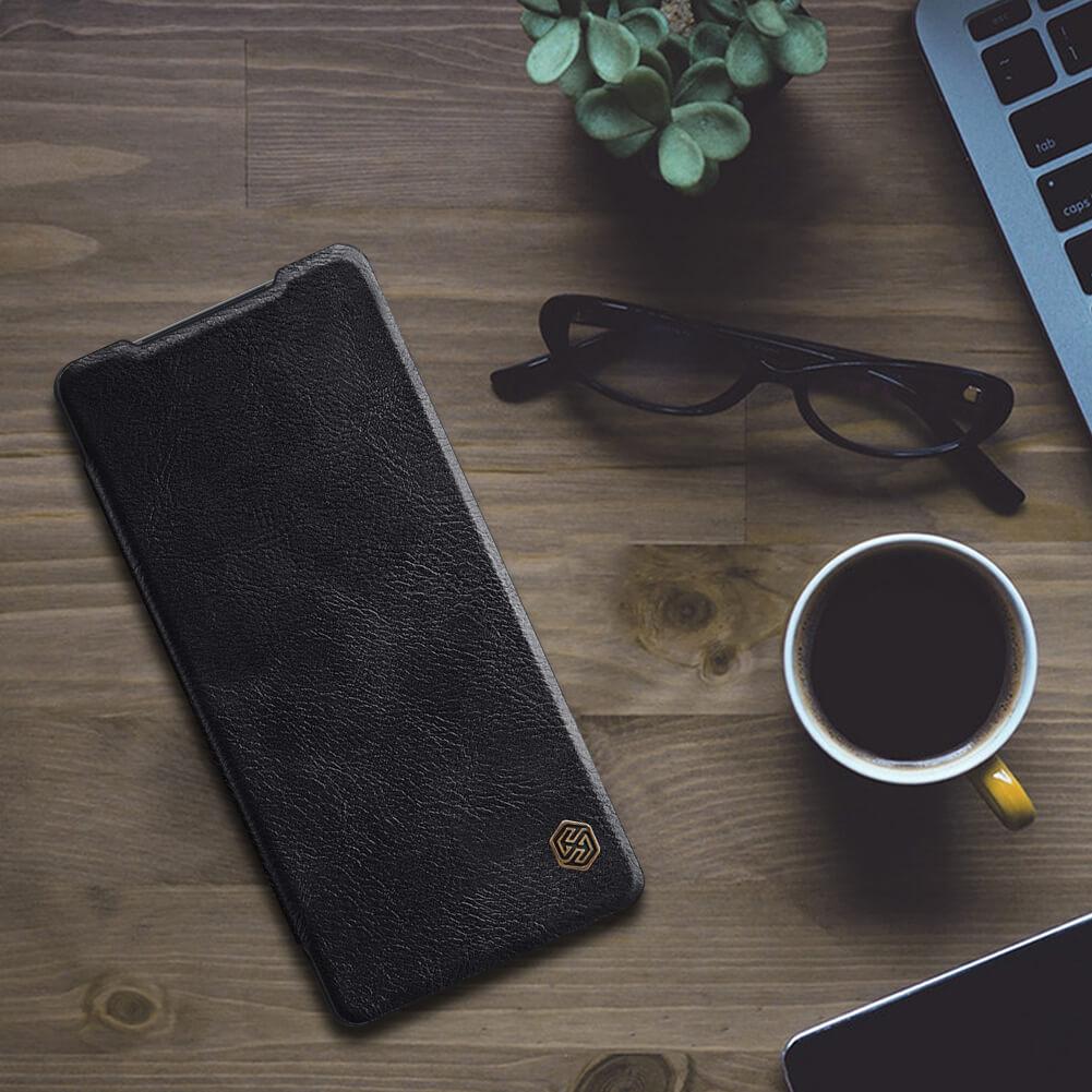 کیف چرمی نیلکین سامسونگ نوت 20 Nillkin Qin Leather