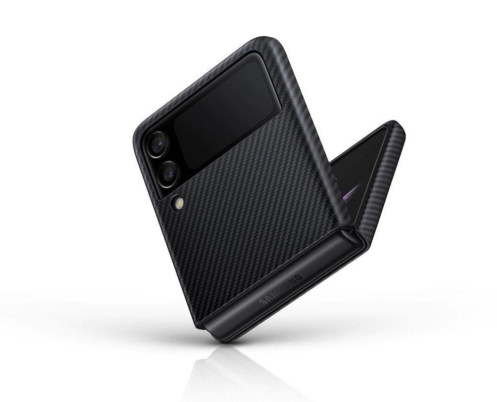 قاب محافظ اصلی زد فلیپ 3 سامسونگ Galaxy Z Flip 3 Aramid Cover