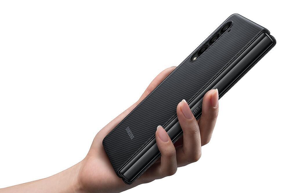 قیمت و خرید قاب محافظ اصلی زد فولد 3 سامسونگ Galaxy Z Fold 3 Aramid Cover